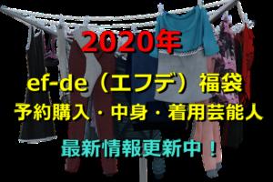 2020年 エフデ 福袋 予約購入 中身 着用芸能人 最新