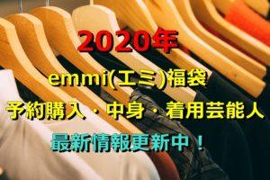 2020年 emmi(エミ) 福袋 予約 購入 中身 着用芸能人 最新